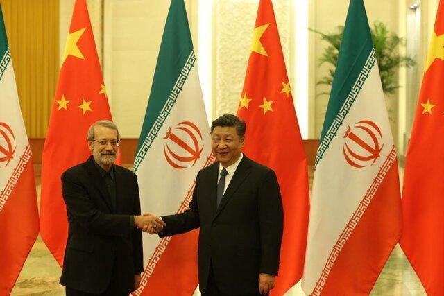 توییت ظریف در خصوص محور صحبت های لاریجانی با رئیس جمهور چین
