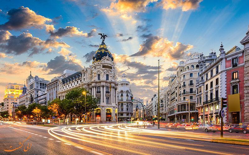 گران ویا، توریستی ترین خیابان در مادرید اسپانیا!