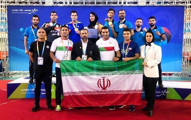 ارتقاء 15 پله ای ایران در بازیهای جهانی هنرهای رزمی مسترشیپ با 5 مدال ساواته