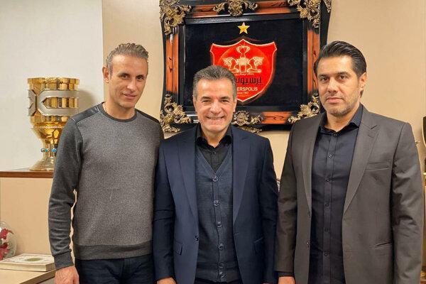 حضور گل محمدی در جلسه هیات مدیره باشگاه پرسپولیس