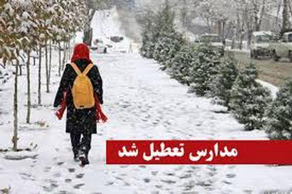 تعطیلی مدارس در نیمی از شهرستان های استان زنجان