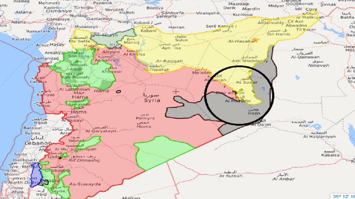 حمله راکتی به پایگاه آمریکا در دیر الزور سوریه