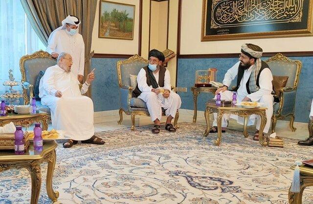 ملاقات هیئتی از طالبان با رئیس اتحادیه جهانی علمای مسلمان