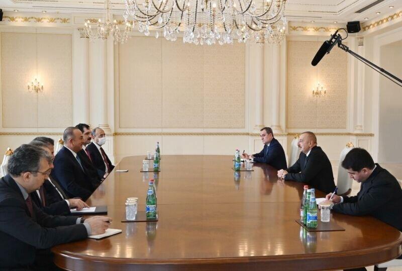 علی اف درباره قره باغ به وزیر خارجه ترکیه چه گفت؟
