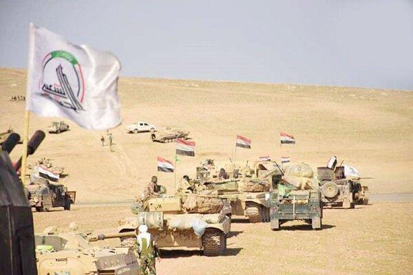 عملیات حشد شعبی در عمق صحرا تا مرزهای عراق و عربستان