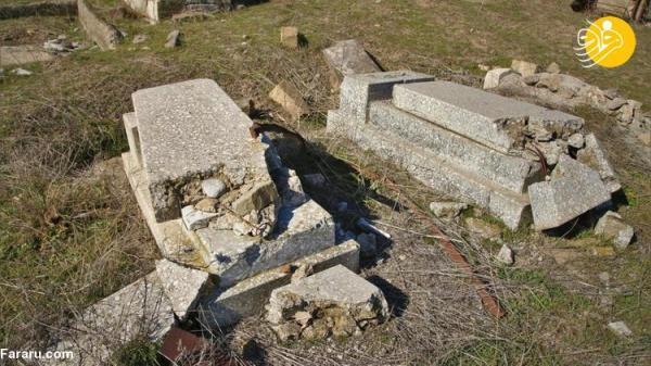 (تصاویر) تخریب قبرستان های قره باغ به دست نیروهای ارمنی