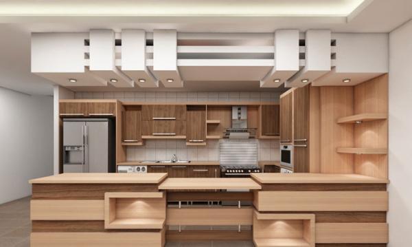 انواع مدل کناف اپن آشپزخانه؛ سنتی و مدرن