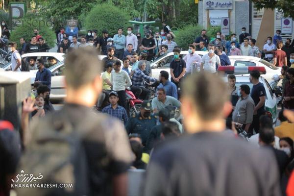 درگیری فیزیکی طرفداران سپاهان و پرسپولیس در اصفهان