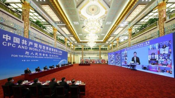 متلک رئیس جمهور چین به آمریکا در نشست احزاب سیاسی دنیا